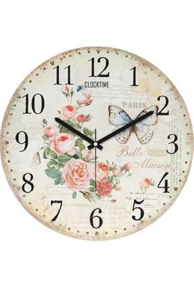 Clocktime By Cadran 30x30 Cm MDF Duvar Saati CTM80
