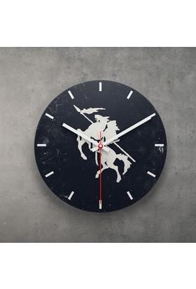 KFBimilyon Kayı Boyu Diriliş Baskılı MDF Ahşap Duvar Saati