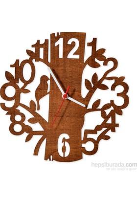 Penguen Pensa Ağaç 102 Ahşap Duvar Saati