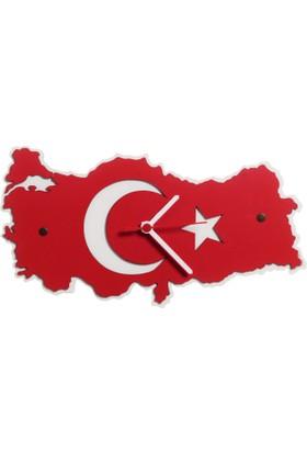 Penguen Türkiye Ahşap Duvar Saati