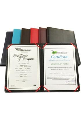 2K 888 Suni Deri 23X32 Diploma Kabı