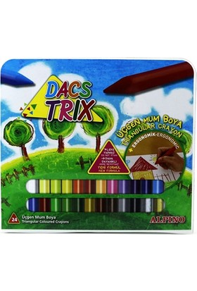 Alpino Dacstrık 24 Renk Üçgen Mum Boya Da-127
