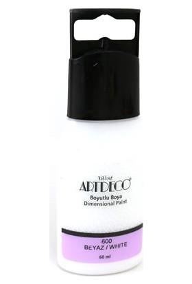 Artdeco Y-042C-600 Boyutlu Boya 60 Ml Beyaz