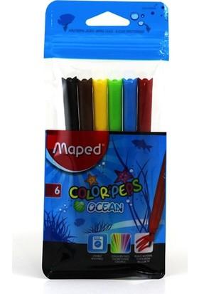 Maped 845723 Color Peps Ocean 6 Renk Keçeli Kalem