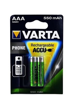 Varta AAA Şarjlı İnce Pil 550 mAh 2'li