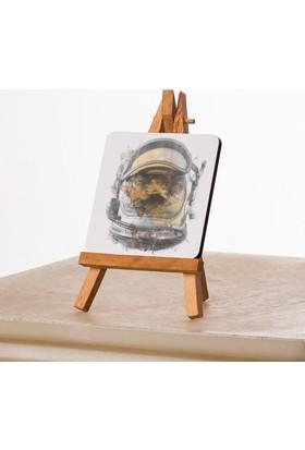Kfbimilyon Astronaut Helmet Sahilde Tasarımlı 10X10Cm Masa Dekoru
