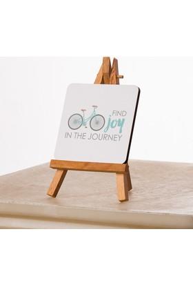 Kfbimilyon Find Joy İn The Journey Tasarımlı Tasarımlı 10X10Cm Masa Dekoru