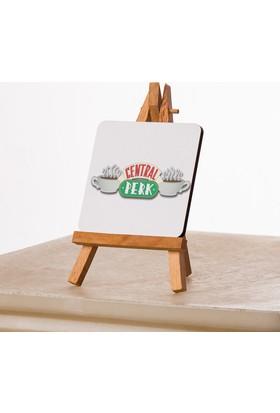 Kfbimilyon Central Perk Coffee Tasarımlı 10X10Cm Masa Dekoru