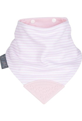 Cheeky Chompers Diş Kaşıyıcılı Fular Önlük (Cool Pink)