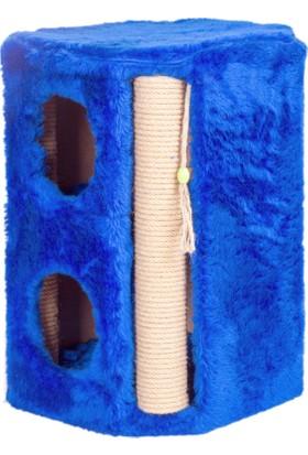 Orijen Kedi Tırmalama 2 Katlı Kutulu 35X35X50 Cm (Model No: Viyana-Mavi)