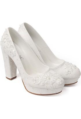 Gön Kadın Gelinlik Ayakkabı 45603