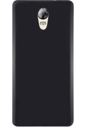 Case 4U Lenovo Vibe P2 Mat Silikon Kılıf Siyah + Ekran Koruyucu