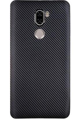 Case 4U Xiaomi Mi 5S Plus Karbon Silikon Kılıf Siyah + Cam Ekran Koruyucu*