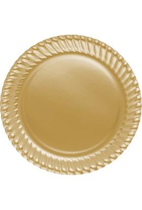 Elitparti Altın Karton Tabak 23 cm