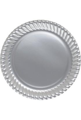 Elitparti Gümüş Karton Tabak 23 cm