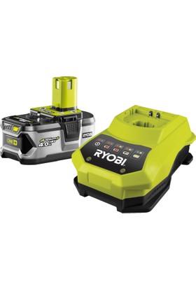 Ryobi RBC18L40 18Volt / 4,0 Ah Li-Ion Yedek Akü ve Akü Şarj Cihazı