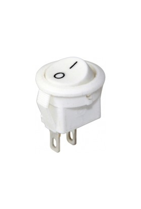 Fortor Mini Yuvarlak Anahtar Beyaz 16 mm - 100 Adet