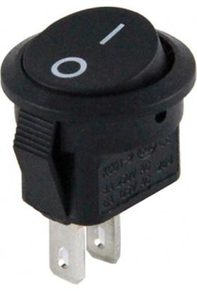 Fortor Mini Yuvarlak Anahtar Siyah 16 mm - 100 Adet
