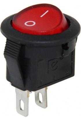 Fortor Mini Yuvarlak Anahtar Kırmızı 16 mm - 100 Adet