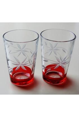 Başak 52052 Glayor Dekor (Kırmızı) Su Bardağı 12 Adet