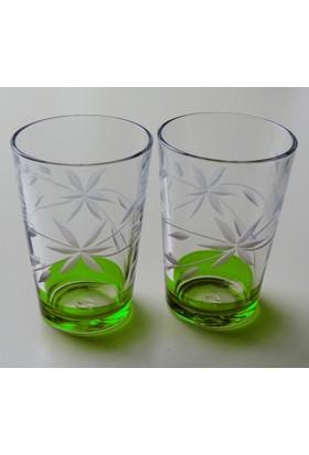 Başak 52052 Glayor Dekor (Yeşil) Su Bardağı 12 Adet