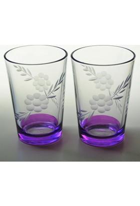 Başak 52052 Papatya Dekor (Mor) Su Bardağı 12 Adet