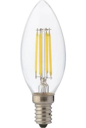 Horoz 4 Watt E-14 İnce Duy Sarı Işık Mum Buji Filament Led Ampul
