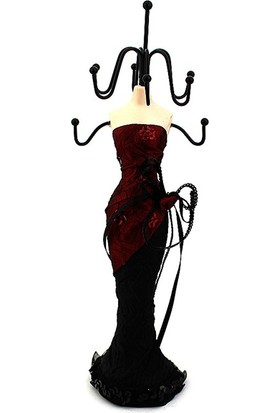 Hunga Takılık Elbiseli Manken Siyah Kırmızı