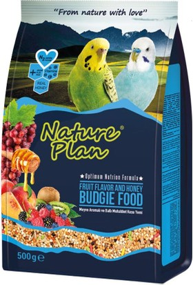 Nature Plan Meyve Aromalı Ve Ballı Muhabbet Kuşu Yemi 500 Gr