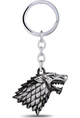 Hunga Game Of Thrones Stark Anahtarlık Gümüş Renk