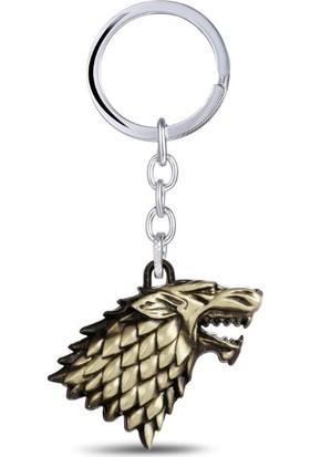 Hunga Game Of Thrones Stark Anahtarlık Altın Renk