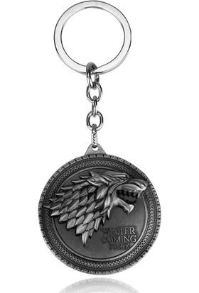 Hunga Game Of Thrones Stark Metal Anahtarlık Gümüş Renk