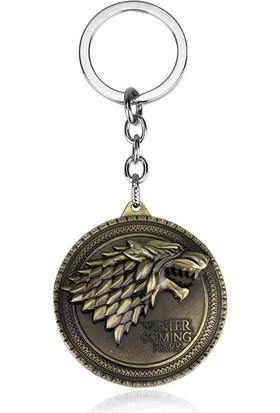 Hunga Game Of Thrones Stark Metal Anahtarlık Altın Renk