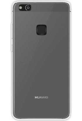 Kny Huawei P10 Lite Kılıf Ultra İnce Şeffaf Silikon + - Şeffaf