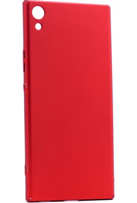 Kny Sony Xperia Xa1 Ultra Kılıf İnce Sert Arka Kapak Rubber + - Kırmızı