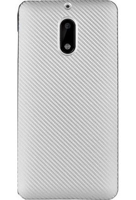Kny Nokia 5 Kılıf Karbon Desenli Silikon + - Gri