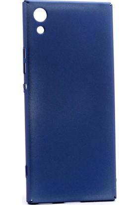 Kny Sony Xperia Xa Kılıf İnce Sert Arka Kapak Rubber + - Lacivert