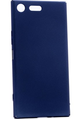 Kny Sony Xperia Xz Premium Kılıf İnce Sert Arka Kapak Rubber + - Lacivert