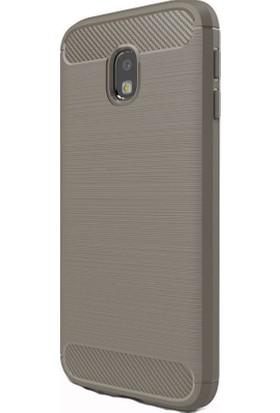 Kny Samsung Galaxy J7 Pro 2017 J730 Kılıf Ultra Korumalı Room Silikon + - Gri