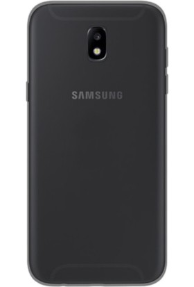 Kny Samsung Galaxy J7 Pro 2017 J730 Kılıf Ultra İnce Şeffaf Silikon + - Siyah
