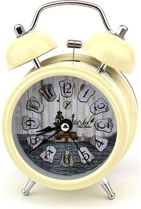 Hunga Kız Kulesi Desenli Masa Saati