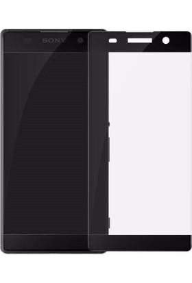 Serhan Sony Xperia Xa1 3D Kavisleride Kaplayan Renkli Temper Cam