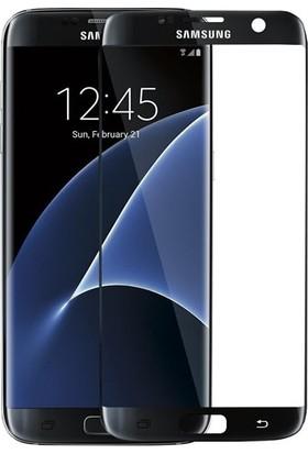Serhan Samsung Galaxy S6 Edge Plus 3D Kavisleride Kaplayan Renkli Temper Cam