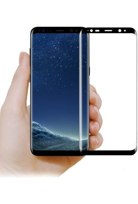 Serhan Samsung Galaxy S9 Plus 3D Kavisleride Kaplayan Renkli Temper Cam