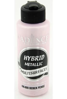 Cadence Bebek Pembe Metalik Multisurface Hibrit Boya Cadence 120Ml