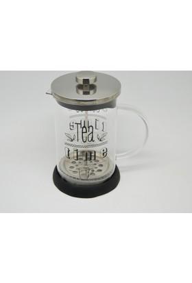 Cemre Siyah French Press Kahve Pres Çay Kahve Demleme 800ml