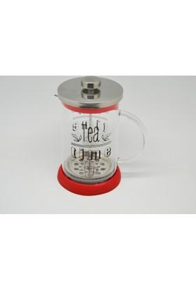 Cemre Kırmızı French Press Kahve Pres Çay Kahve Demleme 800ml