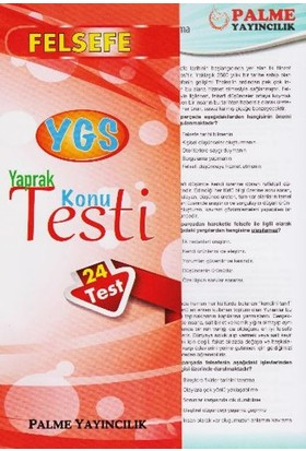Palme YGS Felsefe Yaprak Test