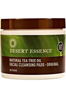 Desert Essence Natural Tea Oil Çay Ağacı Özlü Yüz Temizleme Pedleri 50 Adet