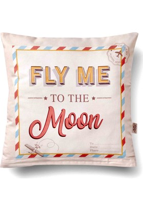 The Mia Retro Yastık Fly Me 40x40 Cm